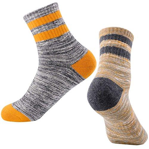 Women's Hiking Walking Socks, FEIDEER Multi-pack Outdoor Recreation Socks Wicking Cushion Crew Socks