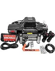 """Winchmax 13.500 libras (6.123 kg)""""Serie SL"""" Cabrestante eléctrico de 12v de grado militar. Cuerda de acero, controles remotos inalámbricos gemelos."""
