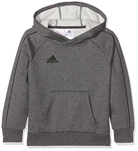 adidas Kinder Core 18 Hoodie, Grau (Dark Grey Heather/Black), 116