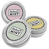 DOCTORS Mint, 3x 70 caramelos de menta sin azúcar, con xilitol, sin aspartamo, aliento fresco donde vaya, caramelos de xilitol en lata retro para píldoras (Classy)