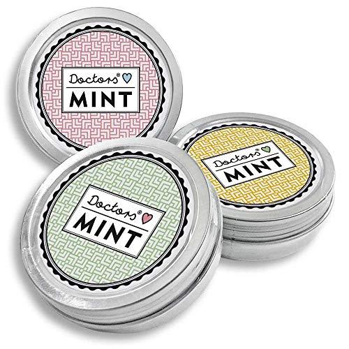 DOCTORS Mint 3x 70 St. Pfefferminzbonbons ohne Aspartam, Xylitol Bonbons ohne Zucker, Pfefferminz Bonbons zuckerfrei, Pfefferminz Dose, Pastillen Dose