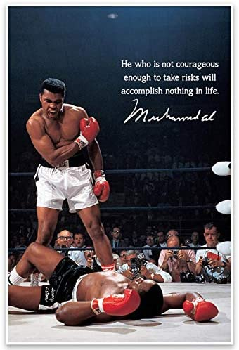 Muhammad Ali Motivational Quote Wall Art Poster product image