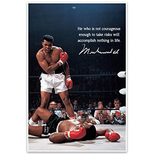 Muhammad Ali Motivational Quote Wall Art Poster