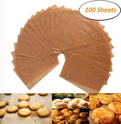 Unbleached Parchment Paper - 200 Non-Stick Brown Cookie Baking Sheets - 12 x 16 Inches - Safe for High Temperature Baking - More Convenient than the Rolled