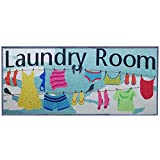ZOVSON Novelty Laundry Room Rug Waterproof Floor Runners Non Skid Kitchen Floor Mat Farmhouse Washhouse Mat Bathroom Rugs Standing Mat 20' x 47'