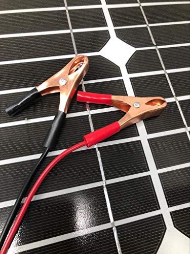 LEOFLA Pannello Ad Energia Solare Fotovoltaico 30W 12V Con Celle In Silicio E Pinze