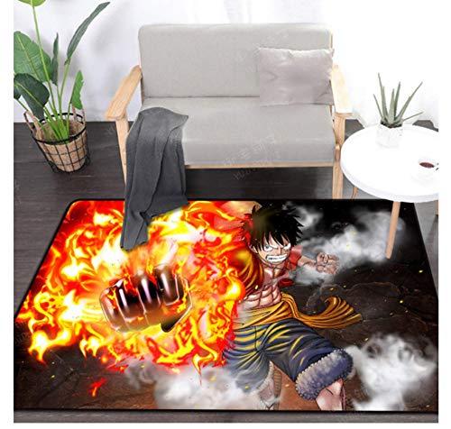 Hiemycop Roronoa Zoro Una Pieza Luffy Anime Alfombras De Área Alfombra De Piso Alfombra De Gateo para Niños Felpudo De Dormitorio Alfombra De Dibujos Animados 160X230Cm