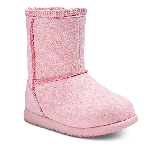 Genuine Kids from OshKosh Infant Girls' Aubrey Fleece Boots (4, Pink)