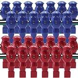 Billiard Evolution 26 Red and Blue Robotic Foosball Men