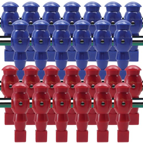 Billiard Evolution 26 Red and Blue Robotic Foosball Men