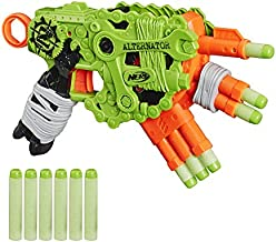 NERF Zombie Strike Alternator Blaster -- Fires 3 Ways -- Includes 12 Official Zombie Strike Elite Darts - for Kids, Teens, Adults