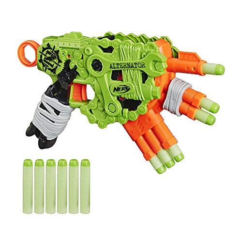 NERF Zombie Strike Alternator Blaster Fires 3 Ways, Includes 12 Official Zombie Strike Elite Darts - for Kids, Teens, Adults