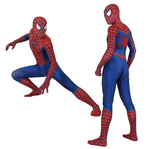 CatHighness Unisex Lycra Spandex Zentai Halloween Cosplay Costumes Adult/Kids 3D Style (Adult-S(Height:61-63 Inch), Blue)