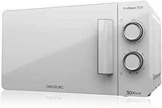 Cecotec Microondas blanco ProClean 3120. Con Grill y Revestimiento Ready2Clean para mejor limpieza. Tecnología 3DWave, Can...