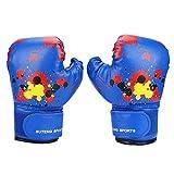 VGEBY1 - Guanti da boxe per bambini, in poliuretano, per bambini da 2 a 11 anni, colore: blu