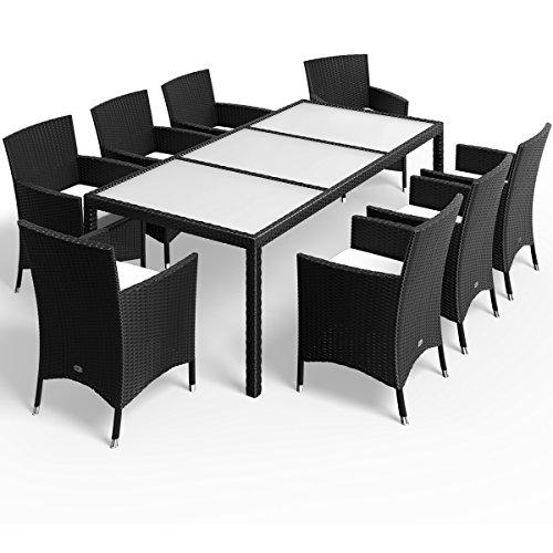 17tlg PolyRattan Sitzgruppe Gartenmöbel Gartenset Lounge Rattan Gartengarnitur Essgruppe Rattan - 3