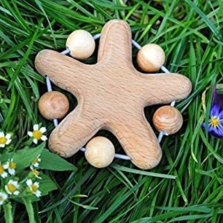 Wooden Teether - Teething Toy - Lovely Star - Juniper Beads