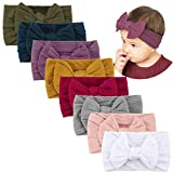 Makone Handmade Baby Headbands Stretchy Nylon Headband with Bows for Infant Baby Toddler Girls- Pack...
