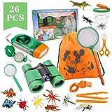 Funny House Exploración para Niños,26 Piezas Outdoor Explorer Kit...