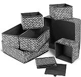 Queta 8 Stück Aufbewahrungsbox Ordnungsbox faltbar Unterwäsche Socken Kleidung Stoff Organizer für Schrank Schubladen Tische Ordnungssystem