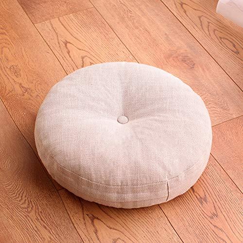 Ronde stoelkussen, linnen, afneembaar en wasbaar, zacht, dik gooikussen, zitkussen van 40,6 cm (16 inch), 50,8 cm (20 inch)