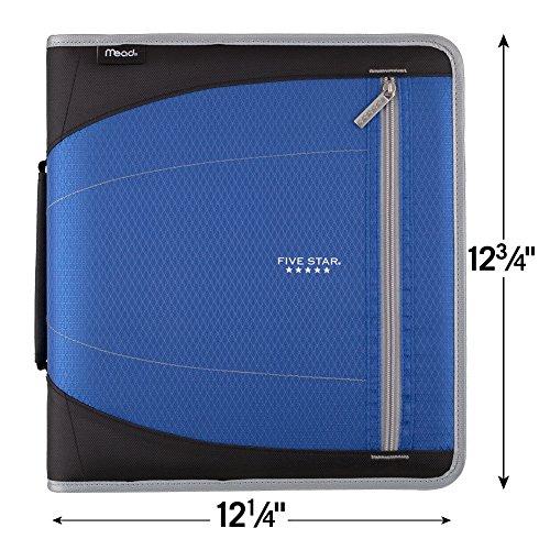 Five Star Zipper Binder, 2 Inch 3 Ring Binder, Removable File Folders, Durable, Blue (73285) Photo #3