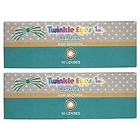 トゥインクルアイズ ハーフ シリーズ TwinkleEyes 1day half series ワンデー 【カラー】アッシュブラウン 【PWR】-4.50 10枚入 2箱
