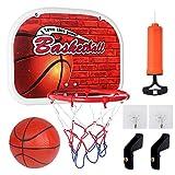 Mini Panier Basket, Panier de Basket Interieur avec la Ballon et la Pompe Jouets de Sport pour...