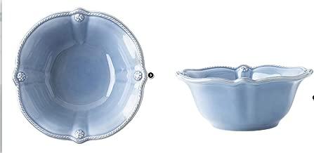 Juliska Stoneware Berry & Thread Chambray Blue Cereal - Ice Cream Bowl