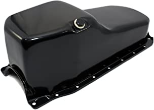 Assault Racing Products A9414PBK Small Block Chevy Black Oil Pan Stock Capacity 1pc Rear Main SBC 305 350 5.0L 5.7L Vortec