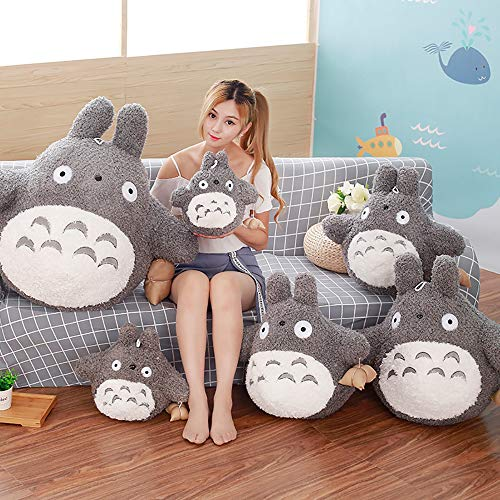 YUEFF Peluche Juguete Totoro Muñeca,Mi Vecino Totoro Juguetes De Peluche Suave Personaje De Anime Totoro Muñeca,Niños Cumpleaños Niña Niños Juguetes,A,55cm