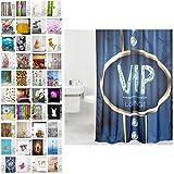 Sanilo Duschvorhang, viele schöne Duschvorhänge zur Auswahl, hochwertige Qualität, inkl. 12 Ringe, wasserdicht, Anti-Schimmel-Effekt (VIP Lounge, 180 x 200 cm)