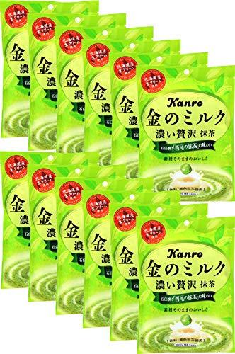 カンロ 金のミルクキャンディ 抹茶 70g×6袋入×(2ケース)