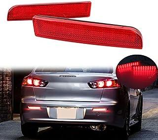 Clidr Lens Rear Bumper Reflector Lights LED Tail Light for Mitsubishi Lancer Evolution EVO X/Outlander Sport/RVR/ASX Acces...
