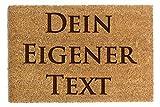 Fußmatte Personalisiert Lustige Personalisierte Fussmatte Mit Wunschname Ihrem eigenen Text Kokosfaser Home Eingang Matte 40x60cm (Modell 1)