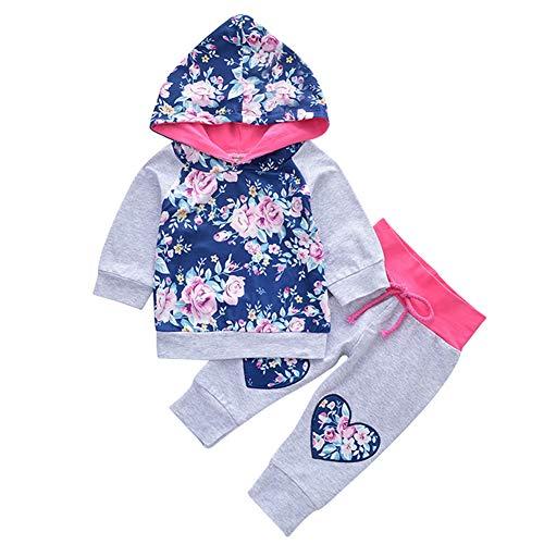Infant Baby Hoodie, 2Pcs Kleidung Set Kleinkind Baby Mädchen Outfit Langarm Hoodie Top Sweatshirt Hosen zum Spielen im Freien, Halloween-Party, Geburtstagsfeier, Baby Fotografie, Familientag