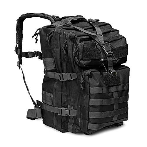 Allnice Tactical Backpack 50L Military Backpack Large Rucksack 3 Day Assault Pack Water-Resistant Tactical Bag Molle Backpack for Men Women Travel, Trekking, Hunting, Hiking, Fishing Black