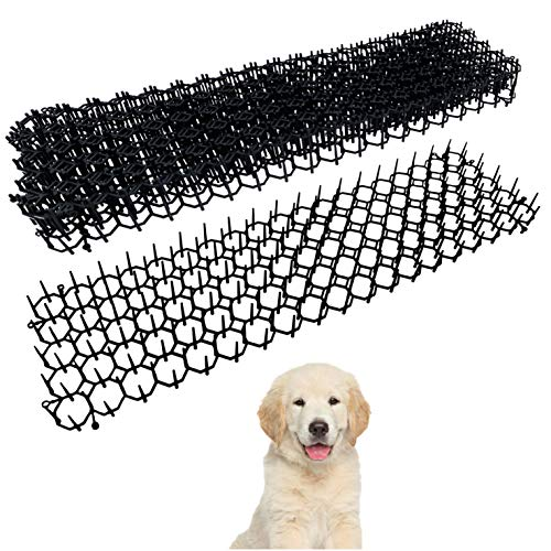 ZYBUX - 6 x Flat Prickle Strip Dig Stopper, Cat Repellent Mat, Scat Mats, Digging Deterrent for Dogs Cats Fox Wild Animal