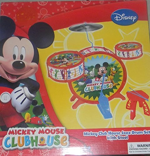 Disney Mickey Mouse Clubhouse Jazz Drum Set with Stool