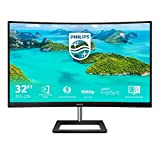 Philips 322E1C Gaming Monitor Curvo da 32', FHD LED VA Adaptive Sync 75 Hz, HDMI, Display Port, VGA, Flicker Free, Low Blue, Nero