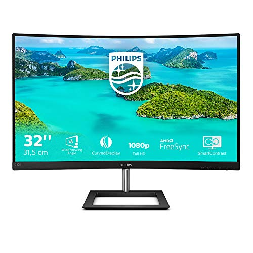 Philips 322E1C - 32 Zoll FHD Curved Gaming Monitor, 75 Hz, 4ms, FreeSync (1920x1080, VGA, HDMI, DisplayPort) schwarz
