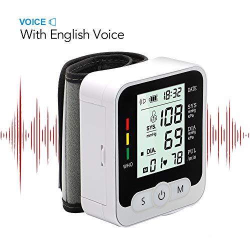 DCSHOP Tensiómetro de Muñeca, Monitores Digitales de PresióN Arterial de MuñEca Pantalla LCD BP Tonómetro Pulso Medir la Presión Sanguínea y Frecuencia Cardíaca para Uso Doméstico