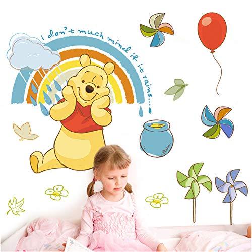VIOYO Disney Winnie Pooh Stickers muraux Chambre Chambre d'enfant décor à la Maison Dessin animé Animaux Zoo Stickers muraux Bricolage Art Mural DIY Affiches