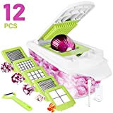 Sedhoom Vegetable Cutter 12 Pieces Fruit Cutter Vegetable Choppers Onion Chopper Food Chopper