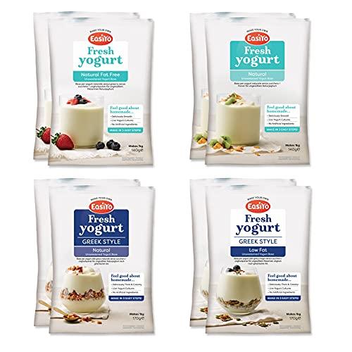 EasiYo Yogurt 8 Sachet Pack | EasiYo Wellbeing Mixed Pack | 2 x Greek Style...