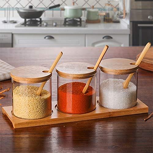 Qazwsxedc para la Cocina Creativa borosilicato Transparente condimento Tarro de Cocina Suministros uno Fija XY