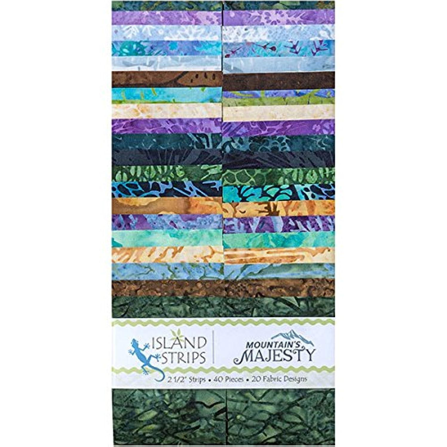 Kathy Engle Mountains Majesty Strips 40 2.5-inch Strips Jelly Roll Island Batik
