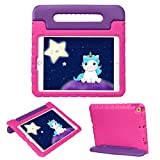 HDE iPad 7th Generation Case for Kids – iPad 10.2 inch 2019 Case for Kids Shock Proof Protective Light Weight Cover with Handle Stand for 2019 Apple iPad 10.2 - Purple Pink