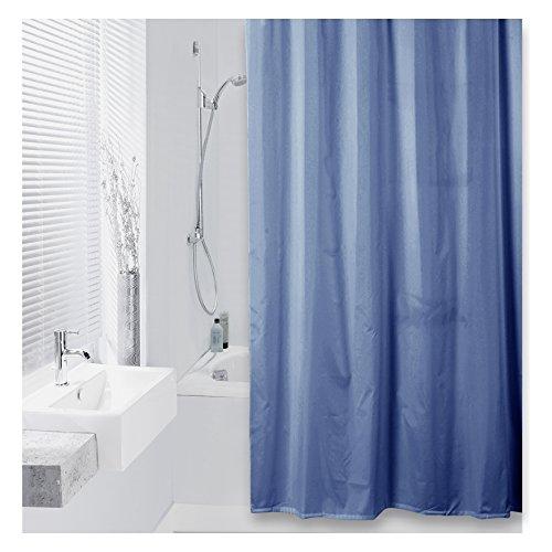 DIFFERNZ 31.002.49Color Duschvorhang Textil 180x 200blau marineblau, Blue Marine