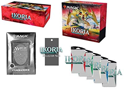 MTG Magic MTG Magic Ikoria Lair of Behemoths Booster Box, Bundle, Collector's Pack, All 5 Themes, Commander EDH Deck by Wizards of the Coast